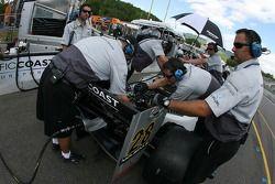 Pacific Coast Motorsports crew members at work