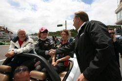 Drivers parade: Dan Clarke and Steve Johnson
