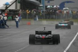 Cars head back to track with rain tires