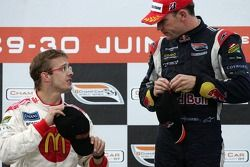 Podium: Sébastien Bourdais still unhappy with Robert Doornbos