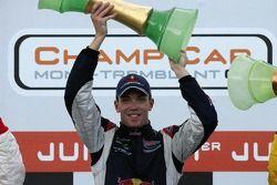 Podium: race winner Robert Doornbos