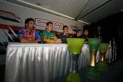 Press conference: Alex Tagliani, Simon Pagenaud, Tristan Gommendy, Sébastien Bourdais and Robert Doo