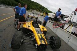 Dale Coyne Racing crew members at work