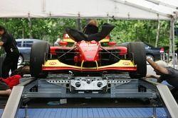 Sébastien Bourdais' car at tech inspection