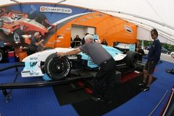 Graham Rahal's car at tech inspection