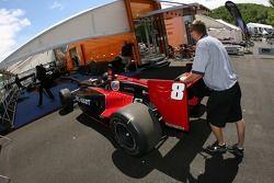Alex Tagliani's car at tech inspection