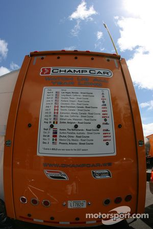 Champ Car transporter
