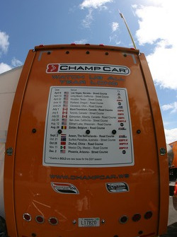 Champ Car transporter