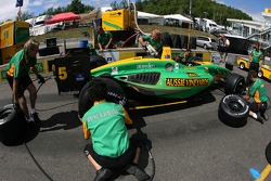 Pitstop practice for Team Australia crew members