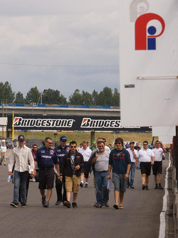 Track walk for Forsythe Champ Car Atlantic team drivers