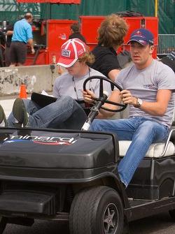 Robert Doornbos and Dan Clarke, Minardi Team USA