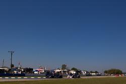 #01 Highcroft Racing Honda Performance Development ARX-01e: David Brabham, Marino Franchitti, Simon Pagenaud, #06 Muscle Milk Aston Martin Racing AMR/Lola Coupe B08/62: Greg Pickett, Klaus Graf, Lucas Luhr
