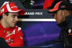 Фелипе Масса, Scuderia Ferrari и Льюис Хэмилтон, McLaren Mercedes