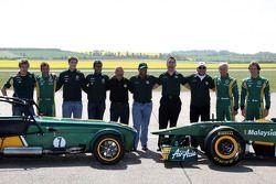 Ricardo Teixeria, Mike Gascoyne, Team Lotus, Chief Technical Officer, Tony Fernandes, Team Lotus, Te