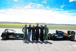 Heikki Kovalainen, Team Lotus, Tony Fernandes, Team Lotus, Team Principal, Mike Gascoyne, Team Lotus