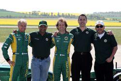 Heikki Kovalainen, Team Lotus, Tony Fernandes, Team Lotus, Team Principal, Jarno Trulli, Team Lotus,
