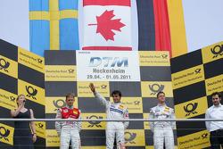 Race winner Bruno Spengler, Team HWA AMG Mercedes, second place Mattias Ekström, Audi Sport Team Ab