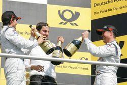Race winner Bruno Spengler, Team HWA AMG Mercedes, third place Ralf Schumacher, Team HWA AMG Mercede