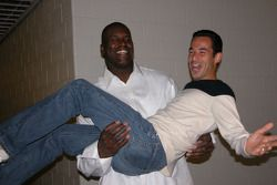 Helio Castroneves et Shaquille O'Neal
