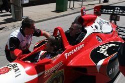 Arie Luyendyk Jr. and Dennis Ravely as a passenger