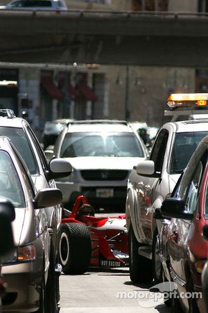 Arie Luyendyk Jr. stuck in traffic