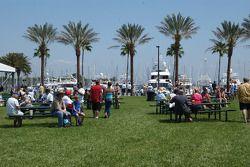 Fans enjoy the warm weather in St. Pete