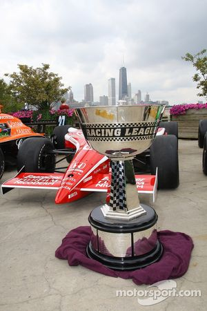 IndyCar Series trophy during a photo shoot on Navy Pier in Chicago