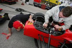 Newman/Haas Racing crew members at work