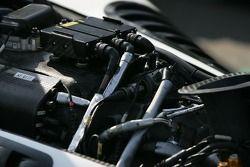 Détail du moteur de la voiture Forsythe Racing