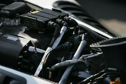 Engine detail of the Forsythe Racing car
