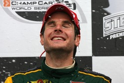 Podium: champagne for Will Power