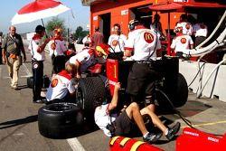 Busy Newman Haas Lanigan Racing
