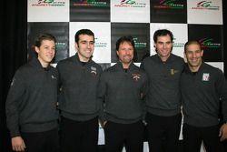 Marco Andretti, Dario Franchitti, Michael Andretti, Bryan Herta and Tony Kanaan