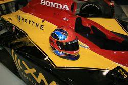 Bryan Herta's helmet on the No. 7 XM Satellite Radio Dallara Honda Firestone