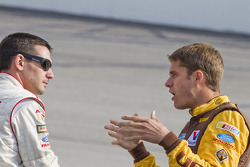 Andy Lally, TRG Motorsports Ford and David Ragan, Roush Fenway Racing Ford