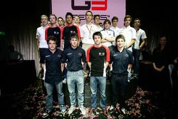 GP2 launch party, Billionaire Istanbul: Dean Smith, Matias Laine, Rio Haryanto, Alexander Sims, Gabr