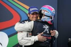 Second place Franck Montagny and Stéphane Sarrazin celebrate