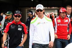 Timo Glock, Marussia Virgin Racing, Adrian Sutil, Force India F1 Team