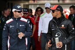 Rubens Barrichello, AT&T Williams, Lewis Hamilton, McLaren Mercedes