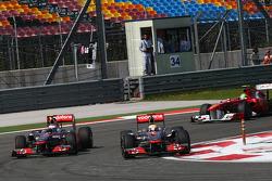 Jenson Button, McLaren Mercedes y Lewis Hamilton, McLaren Mercedes