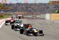Марк Уэббер, Red Bull Racing, RB7, Нико Росберг, Mercedes GP F1 Team, MGP W02, Фернандо Алонсо, Ferrari