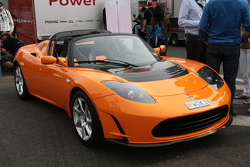 The electric Tesla Roadster