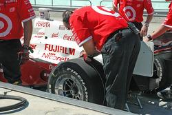 Ganassi Racing crew members at work