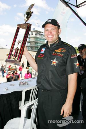 Winner of the Checkers Rally's Hamburger Eating Contest