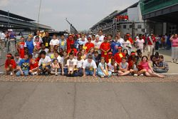 Young fans at the Brickyard