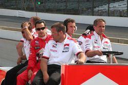 Helio Castroneves and crew