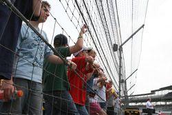 Fans watch pitlane activity