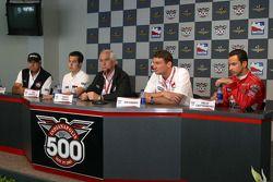 Marlboro Team Penske press conference: Rick Mears, Sam Hornish Jr., Roger Penske, Tim Cindric and He