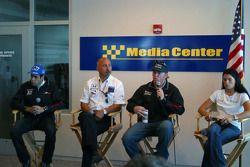 Rahal Letterman Racing press conference: Vitor Meira, Bobby Rahal, Buddy Rice and Danica Patrick