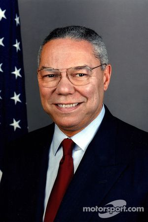 Gen. Colin L. Powell, driver of the Chevrolet Corvette pace car for the 89th Indianapolis 500